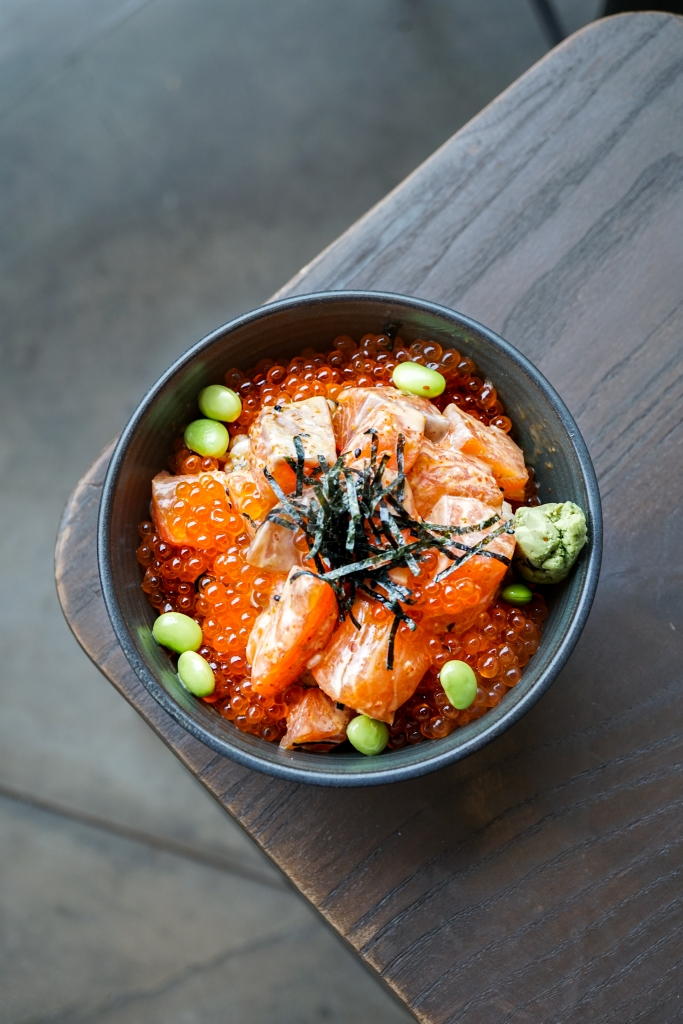Ikura Don with Spicy Salmon ($28)
