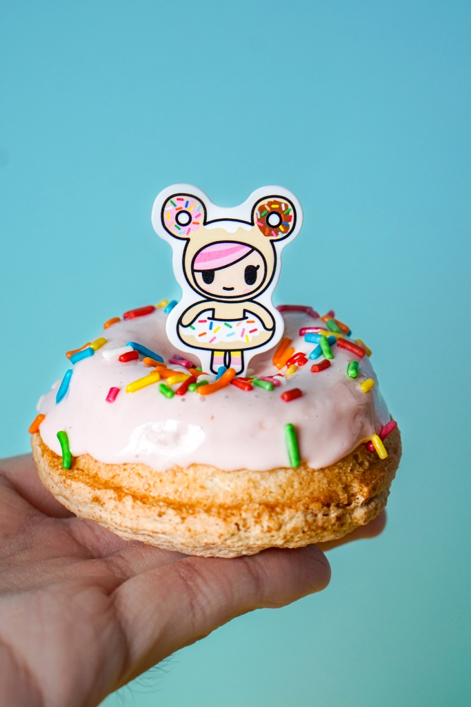 Polar Puffs Tokidoki Strawberry Almond Dacquoise Donut