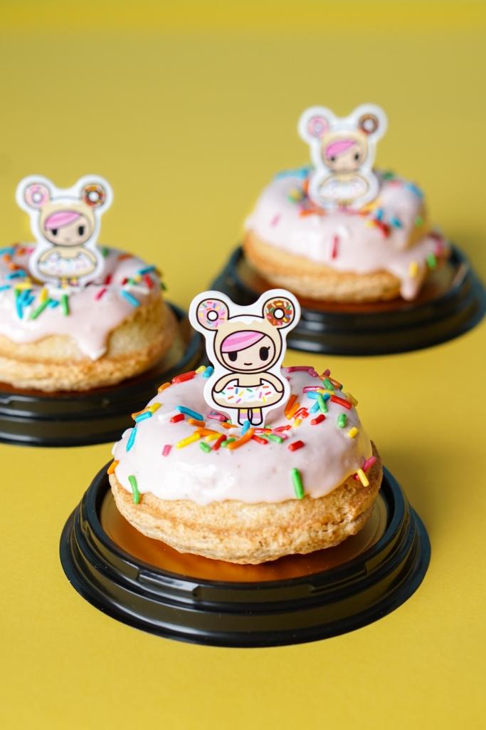 Tokidoki Polar Puffs Strawberry Almond Dacquoise Donut